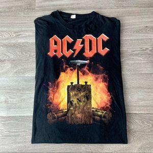 Black Mens AC/DC T.N.T Live Nation Band Shirt XL